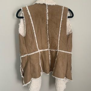Xhilaration Jackets & Coats - Xhilaration Faux Shearling Suede Vest